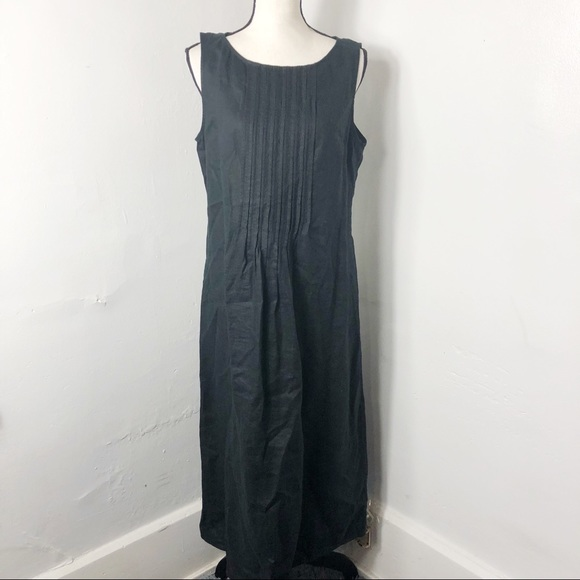 J. Jill Dresses & Skirts - J. Jill Black Linen Sleeveless Pleated Maxi Dress